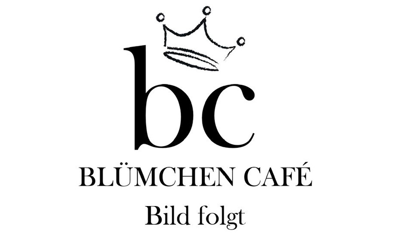 "Blümchen Café Rochlitz Platzhalter-Bild mit dem Logo und dem Text ""Bild folgt"""